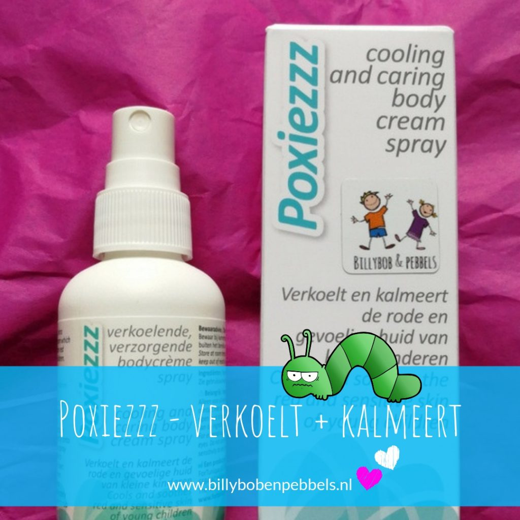 Poxiezzz verkoelt + beschermt de huid. Poxiezzz zorgt door fijne verkoeling dat de huid kalmeert. En naast de menthol, zit er zinkoxide in wat de huid beschermt. Dat is belangrijk als je al flink gekrabd hebt en de huid al beschadigd hebt. De zinkoxide legt dan een dun beschermend laagje op de huid en droogt kleine wondjes uit. Daar bovenop geeft de crème zelf een goede verzorging en hydratatie aan de huid.